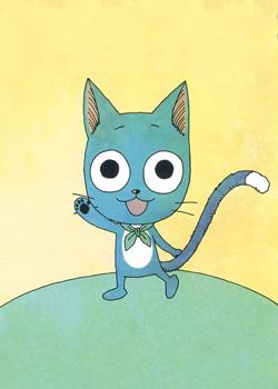 Blue Cat Happy
